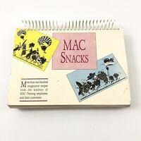 Vintage Community Recipe Book Employees of Mac Printing Spiral Bound Flip Book