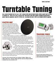 Soundeck PM285 Record Turntable Platter Mat Parts Vinyl Technics SP/LP1200