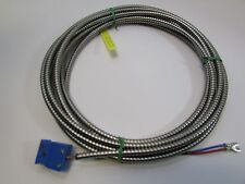 THERMOCOUPLE 20 FT TYPE TX EXTENSION WITH METAL SHIELD TWO WIRE NEW