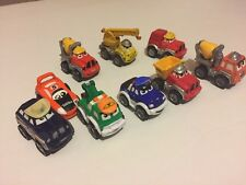 Diecast Tonka Chuck and Friends Lot of 10 Mini Wheel Pals Car Playskool