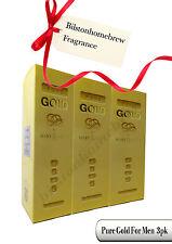 Milton Lloyd Gold For Men 50ml edt spray X3