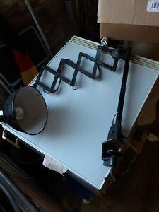 Scherenlampe DRGM Fabriklampe, Industrielampe, Bunkerlampe, Loft