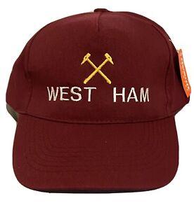 WEST HAM UNITED BURGUNDY COLOUR ADULT BASEBALL CAP HAT West Ham Inspired Gift