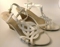 "Womens Shoes Sandals Size 9 M  Strappy Slingback 2"" Wedge Heel"