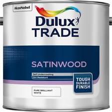 2.5L Dulux Trade Satinwood Pure Brilliant White