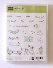 Stampin' Up! Wonderful Life Photopolymer Stamp Set Christmas Car Wedding Mr Mrs