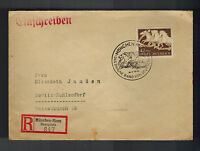 1942 Munich Riem Germany Registered Horse Racing Equestrian Cover to Berlin