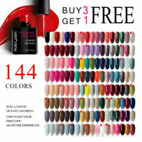 Nail Gel Polish Soak Off UV 144 Colors Glitter Base Top Coat Varnish Full Range