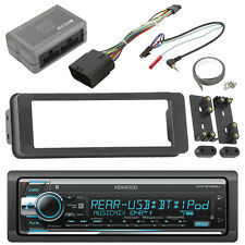 Kenwood Bluetooth Car CD Radio,Scosche Harley 98-2013 Adapter FLHTC Install Kit