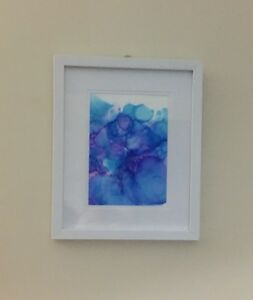 Framed Original Abstract Artwork Signed by Leanne Rose