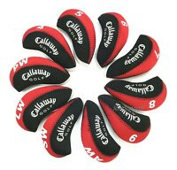 "10X Black&Red Neoprene ""Callaway Golf"" Golf Club Iron Covers HeadCovers UK Stock"