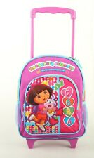 "New Dora the Explorer Small 12"" Girls Rolling Backpack Kids Rolling School Bag"