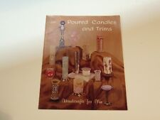 Poured Candles and Trims 1965 Hazel Pearson Handicrafts  candle making craft