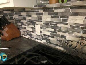 Peel and Stick Kitchen Backsplash Tiles Self Adhesive Tile Vinyl Decorative Tile