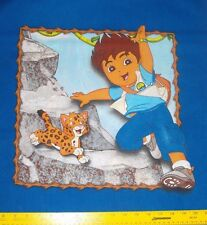NICKELODEON Go Diego Go Pillow Panel Sewing Quilting-1/2 yard (2) Designs