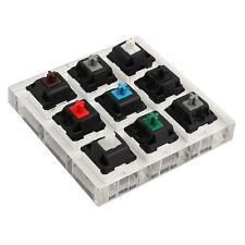 9 Switch Acrylic Keypads Tester Kit Clear Plastic Keycap Sampler for Cherry MX