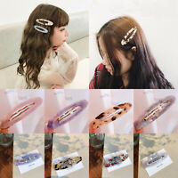Fashion Women's Hair Clips Barrette Slide Hair Snap Pins Hairpins Accessories