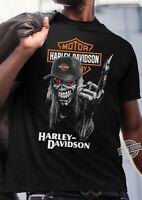 Men's Harley Davidson Skull Middle Finger Vintage T Shirt