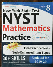 NEW YORK STATE TEST PREP: 8TH GRADE MATH PRACTICE WORKBOOK By Lumos Learning NEW