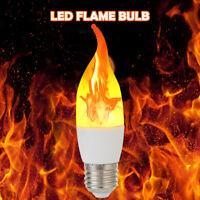 AU LED Flicker Flame Light Bulb Simulated Burning Fire Effect Night Lamp Decors