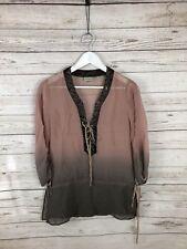 KAREN MILLEN Silk Top - Size UK12 - Great Condition - Women's