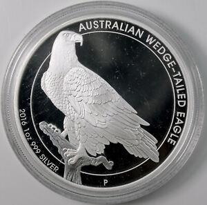 2016 Australian Wedge-Tailed Eagle 1 oz .999 Silver Dollar Coin