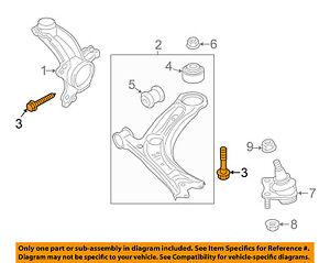 VW VOLKSWAGEN OEM CC Rear Suspension-Lower Control Arm Mount Bolt N10640501