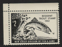 1961, US 2$ Resident Trout Stamp, MNH, New Jersey