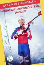 Ole Einar Björndalen (8) Autograph Picture Large Format 15 x 21 + Ski AK FREE