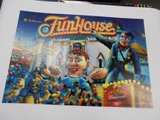 Funhouse Pinball Translite Mr Pinball Sales Manufacturer & Importer Print Master