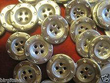 50 Metallknöpfe silber/chrome 18 mm, 4-Loch, hergestellt in der DDR