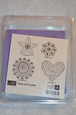 Stampin up POLKA DOT PUNCHES Hostess  unmounted NEW