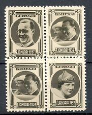 NEDERLAND 1937 ca  4 x  FOTO STAMPS  JULIANA BERNARD   THICK PAPER  PRACHT @3