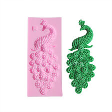 3D Peacock Silicone Fondant Mold Cake Decorating Chocolate Candy Baking Tools