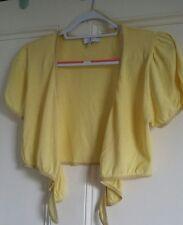 Ladies yellow summer cardi cardigan Jasper Conran size 12