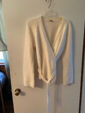 Ann Taylor Tie Sweater Off White Women's Size L