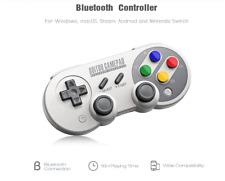 8Bitdo SF30 Pro Wireless Bluetooth Controller with Joystick - GRAY