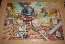 WASGIJ 2 x 1000 Piece Jigsaw Puzzle Mystery 1 WASGIJ ESPRESS 1 piece missing
