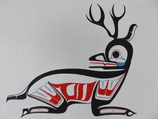 """Northwest Coast Canadian native artist Ben Houstie """"Deer"""" Original Art"""