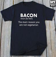 Funny Bacon Lover T Shirt Bacon Definition Tee Pork Pig Humor Christmas Gift Tee