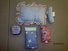 Barbie Doll 5 PILLOWS  Blues  for Bedding or Furniture  Lot R2