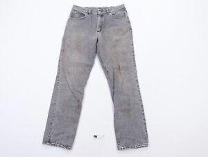Vintage 90s Lee Mens 32x32 Streetwear Straight Leg Distressed Denim Jeans Black