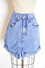 vintage 80s shorts frosted acid wash indigo denim high waisted jean shorts XS