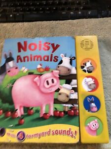 Noisy Animals Hardback Book With 4 Different Animal Sounds