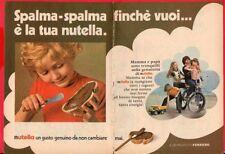 Paginetta pubblicitaria Advertising Werbung 1972 NUTELLA FERRERO