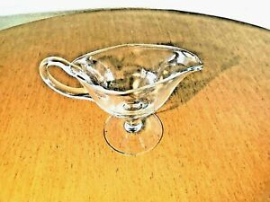 Luigi Bormioli Clear Glass Pedestal Footed Gravy Boat