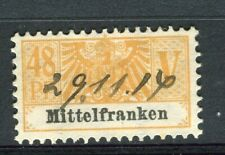 GERMANY; Early 1900s small Fiscal/Revenue stamp fine used 48pf. Mittelfranken