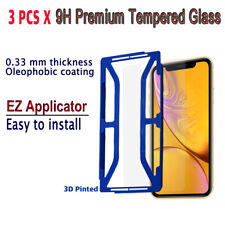 3pcs x Tempered Glass Screen protector with EZ Applicator for iPhone XR iXRG3
