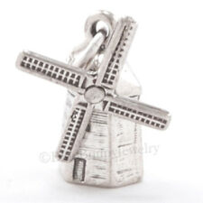 3D WINDMILL 925 Pendant Bracelet Charm Dutch Holland Travel STERLING SILVER