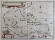 c. 1635 Map of the West Indies by Willem Janszoon Blaeu